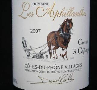 Les Aphillanthes Cuvée 3 Cépages Côtes-du-Rhone Villages