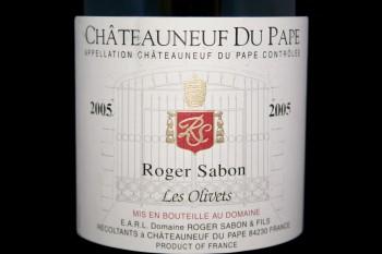2005 Roger Sabon Les Olivets Châteauneuf-du-Pape