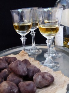 truffled truffles with a dessert wine