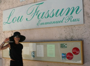 chef Morgan at Lou fassum in France