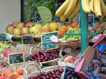 fresh produce at the market