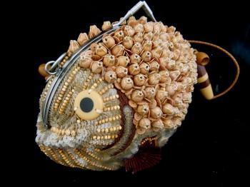 sequin fish handbag by Chef Morgan