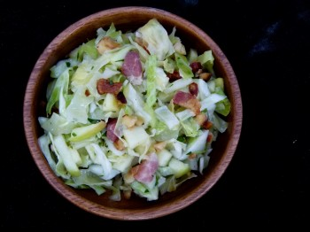 Alsacian Slaw with Lardons and Apples by Chef Morgan