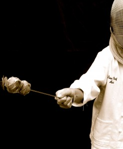 Skewering fencer