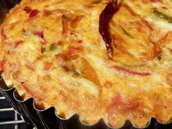 Piperade crustless quiche