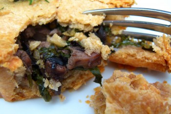 Duck and Kale Savory Tart
