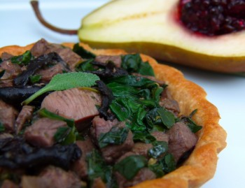 Duck Tartlet with Pear