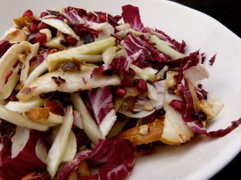 radicchio and fennel salad with pears and hazelnuts