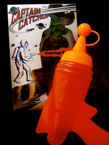 """Captain Catchup"" Ketchup bottle"