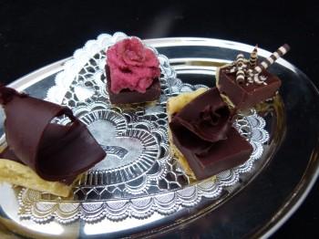 Chocolate Tart Pieces