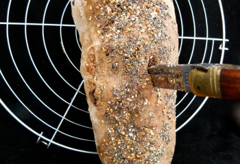 Hunger Games Loaf of Bread with and arrow stuck in it