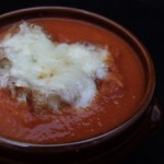 winter tomato soup au gratin (February 10, 2011)