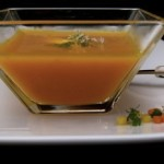 carrot velouté with quenelle of fresh chève (April 21, 2011)