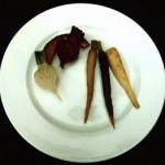 roasted parsnips, turnips, beet and carrots (November 24, 2010)