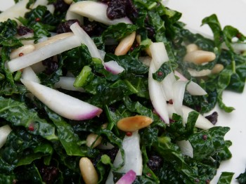 Mcgrath Family Farm Recipes kale and turnip slaw with mustard seed dressing