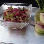 cucumber, watermelon radish and celery cru (January 5, 2012)