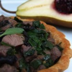 duck and kale savory tartlets with black chanterelles, fresh sage and thyme (November 11, 2011)