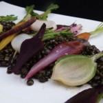 baby spring vegetables and Puy lentil salad (March 10, 2012)