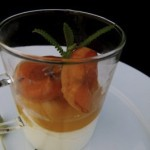 grilled apricots, miel de lavendre and fromage blanc (August 18, 2011)