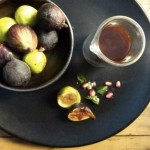 fresh figs with balsamic caramel, fleur de sel and pomegranate seeds (October 3rd, 2012)