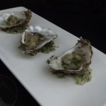 fresh oysters on herbed sea salt