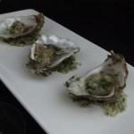 herbed fresh oysters on sea salt (December 31, 2011)