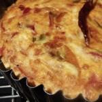 piperade crustless quiche (September 1, 2011)