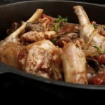 rabbit (or chicken) chasseur (April 1, 2012)