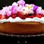 yogurt cake with strawberries