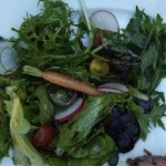 green salad with mustard frill, watercress and pea tendrils (February 11, 2012)