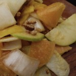 persimmon, endive, apple and beet salad with creamy dressing (October 14, 2011)