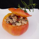 stuffed heirloom tomatoes with tuna, Cannellini beans and tarragon (August 30, 2011)