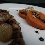 roasted kabocha squash with blue cheese, mushrooms and cipolline onions (November 24, 2010)