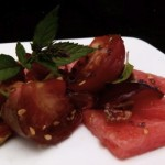 watermelon and heirloom tomato salad (August 11, 2011)