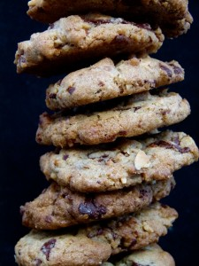 crunchy chocolate and espresso almond cookies by Chef Morgan