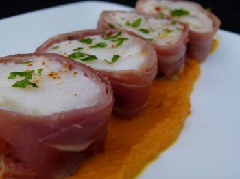monkfish rolled in prosciutto  lotte cigare (Monkfish cigars)