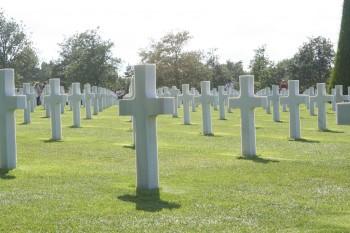 Normandie: Omaha Beach grave site