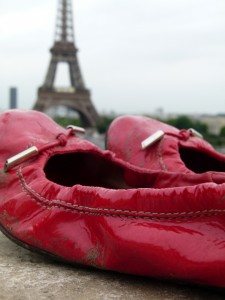 Chef morgan red shoes and Eiffel tower