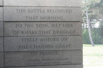 Normandie: Omaha Beach memorial