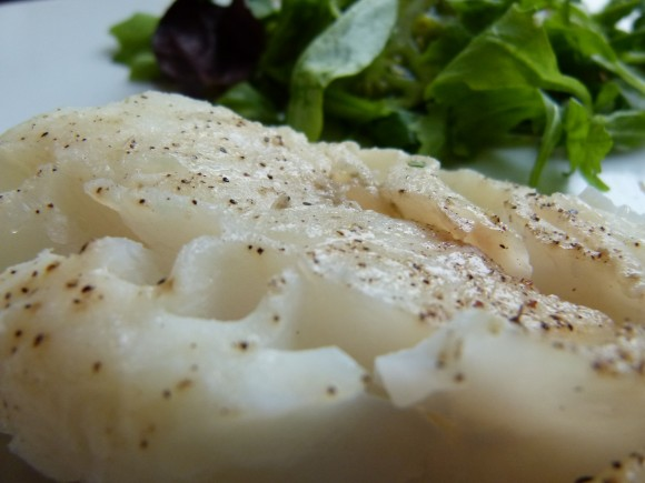 cabillaud au thym en papillote (steamed cod with thyme)
