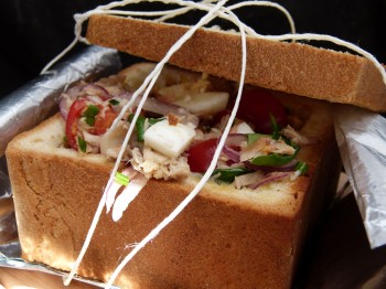 Box bread sandwich french