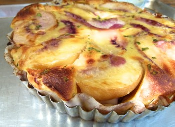peach and tarragon clafoutis (clafouti aux pêches et estragon)