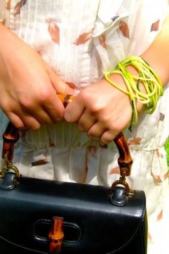 bracelet of zucchini spaghetti
