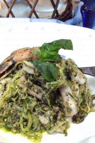 Seafood zucc-ghetti  zucchini spaghetti