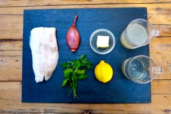 dover sole fillet and ingredients for cooking