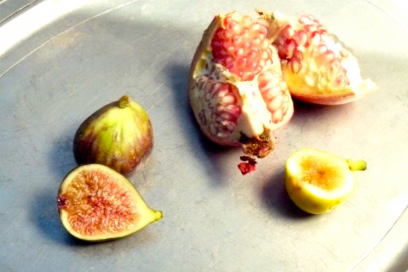 pomegranates and figs