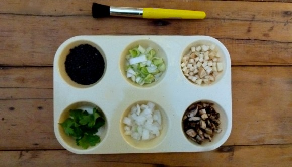 spices and vegetables for recipe