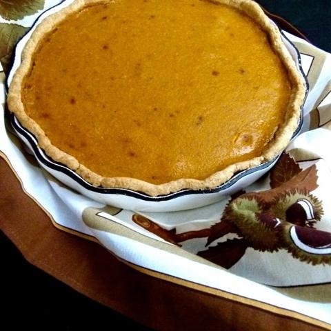 kabocha pie with flaky chestnut crust