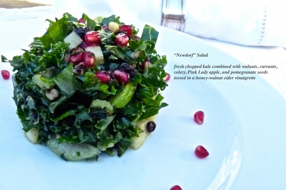 A new version of the Historic Waldorf Salad. The Newdorf