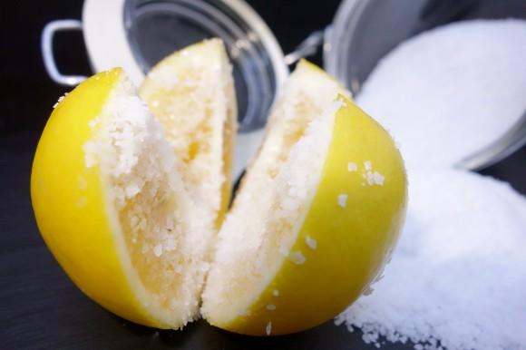 Meyer Lemon with salt